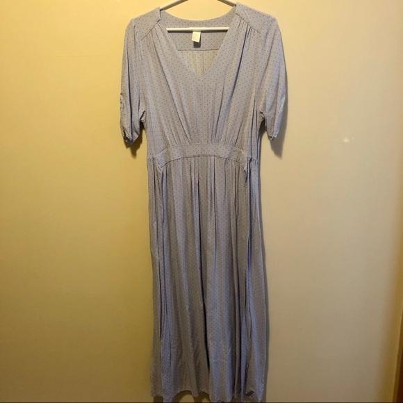 H&M Lavender Polka Dot Maxi Dress